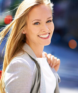 Young business woman with gorgeous smile